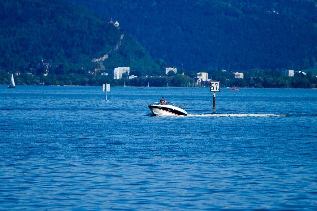 Motorbootfahrt auf dem Bodensee
